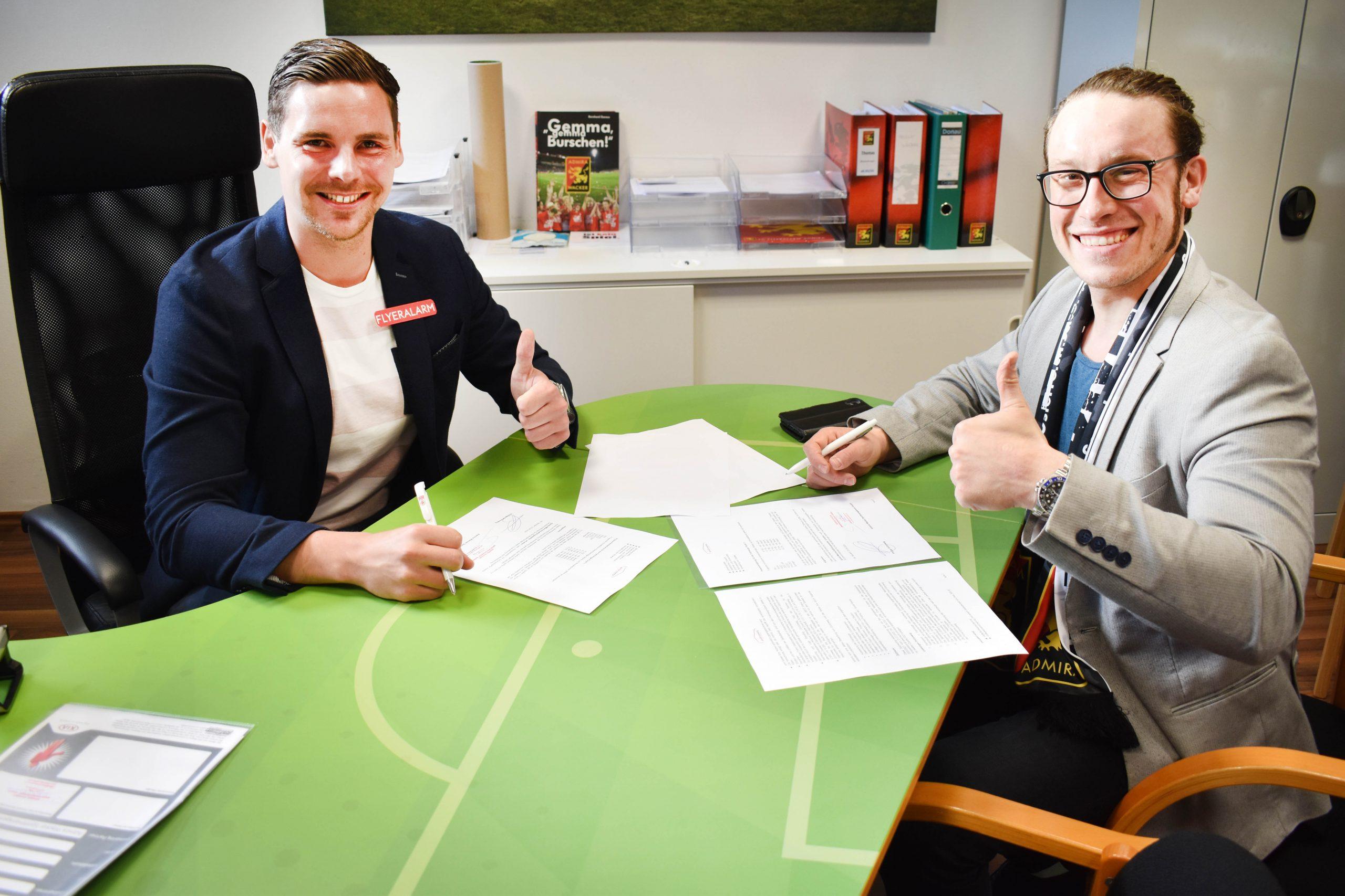 Vertragsverlängerung mit FC Flyeralarm Admira
